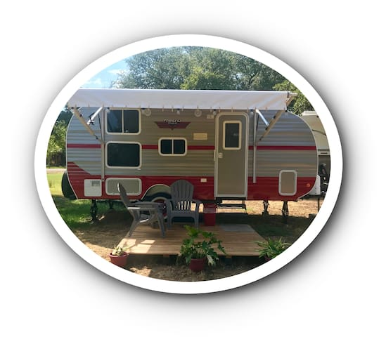 Texas Hill Country Retro Camper