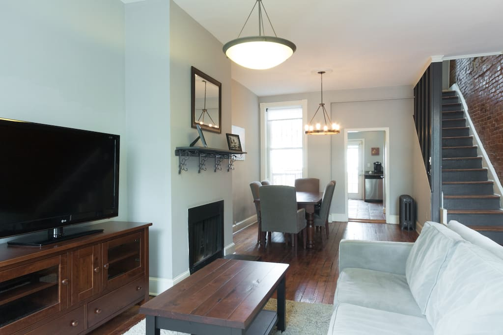Our lovely cherrywood furniture was custom-made by Amish craftsmen in Ohio. It really makes this house feel like home!