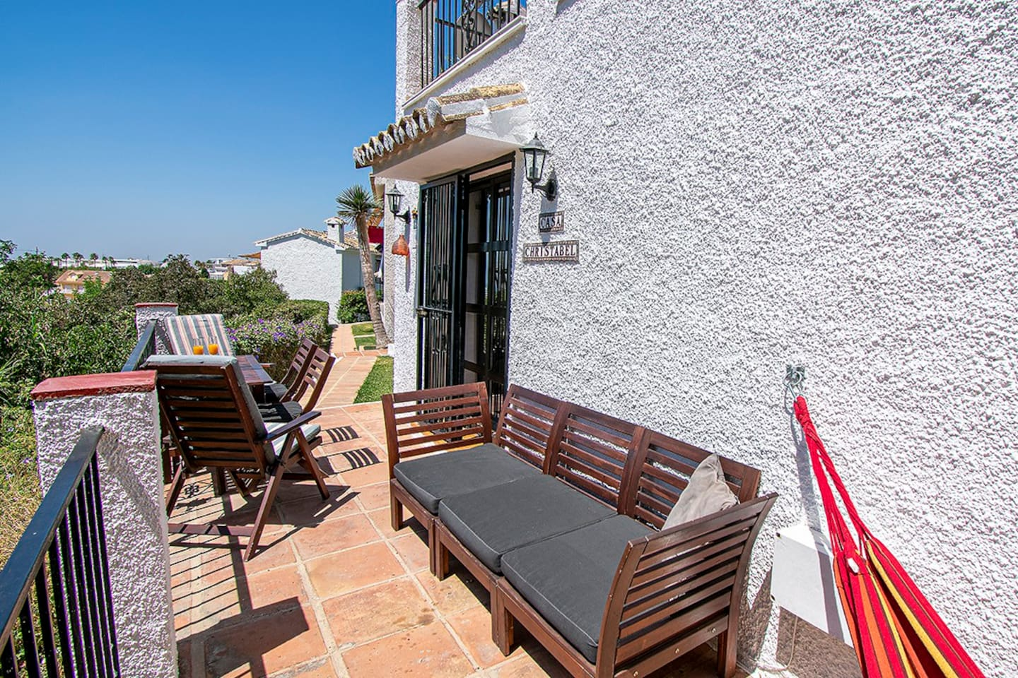 Casa Christabel terrace is perfect for relaxing and has sunshine all day!