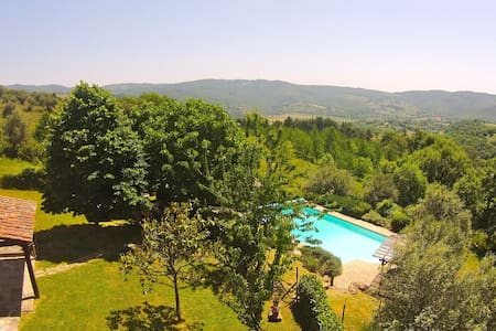Casa del Lupo: heated, fenced pool great views. - Crocicchie