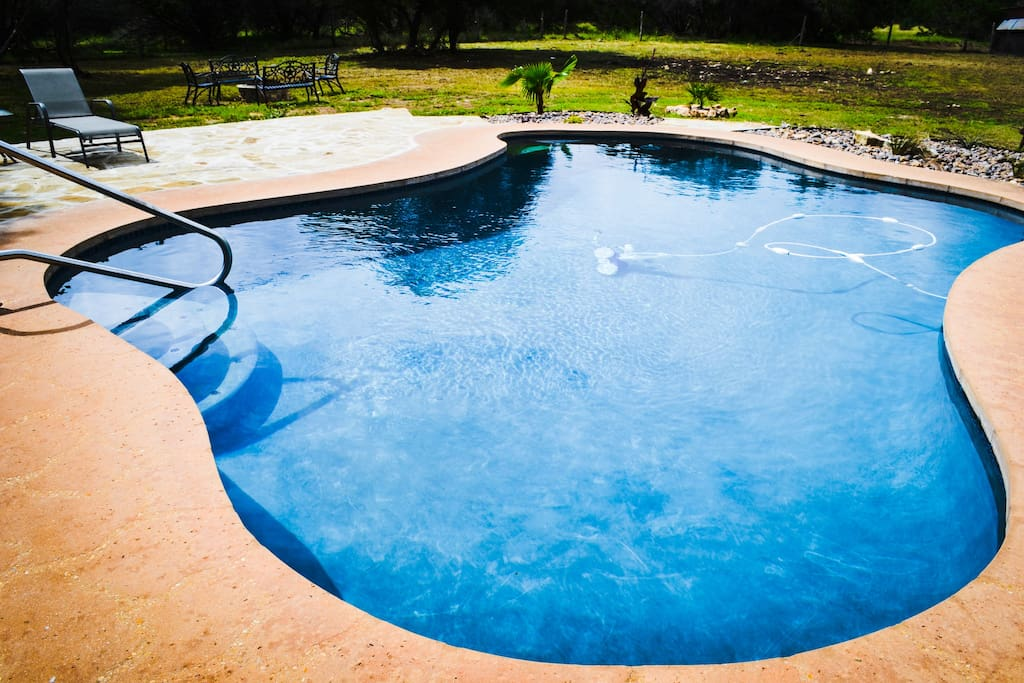 Our large, refreshing salt-water pool is sure to cool you off on a hot Texas day!