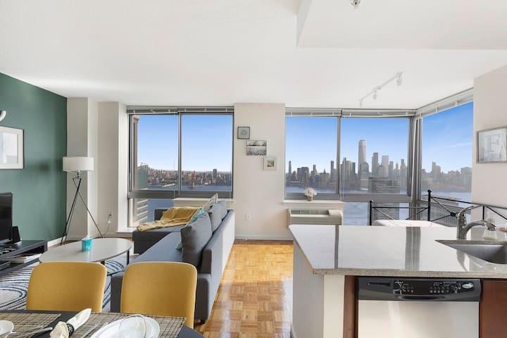 Stunning Views,NYC skyline,Train|Mall-MNN2B