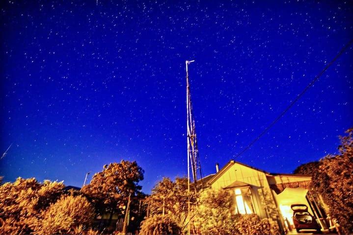 Starry Night Cottage Silo Art Lake Tyrrell (&Pets)