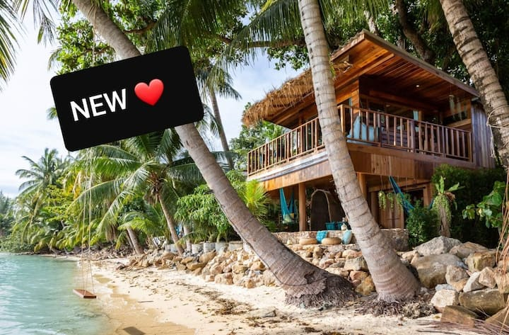 ❤️ THE TREEHOUSE - Beach Front home HIN KONG.