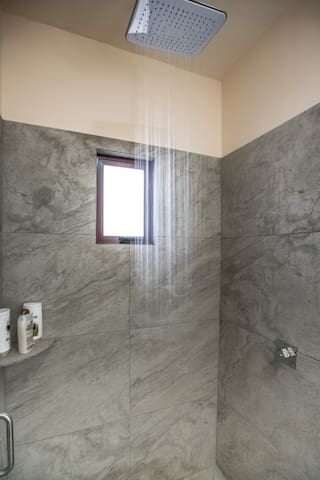 "These Rain showers are simply put ""out of this world"". They provide for a soothing feeling while conserving water. You'll have to turn the square left knob to operate hot water."