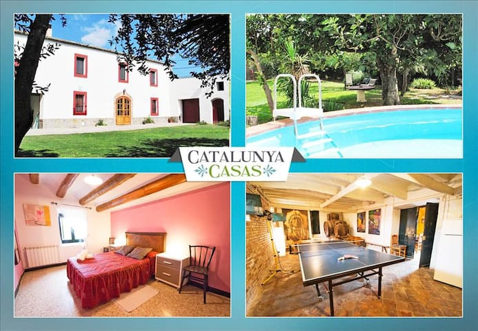 Masia for 10 people, in the heart of Spanish wine country! - Sant Martí Sarroca - Casa de camp