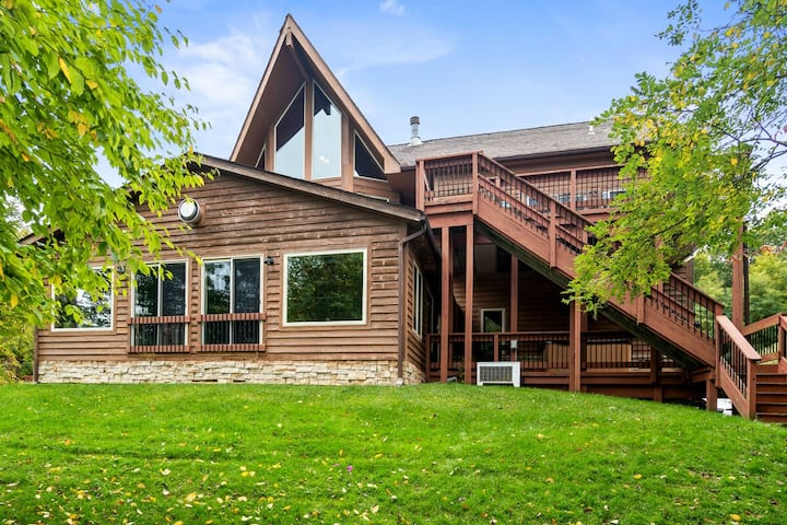 Lake Access Home w/Private Indoor Pool, Dock Slip, Hot Tub, & Fire Pit!