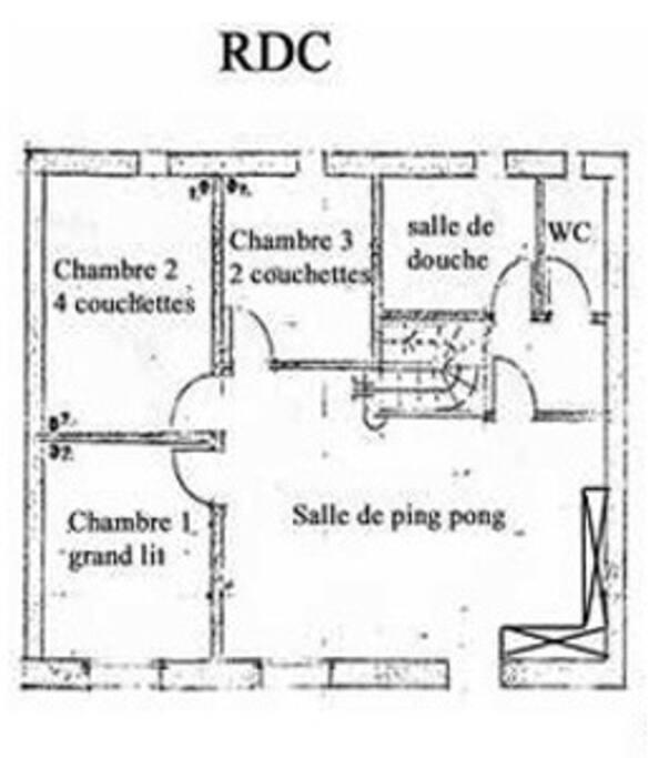 Plan du RDC , entrée par le jardin