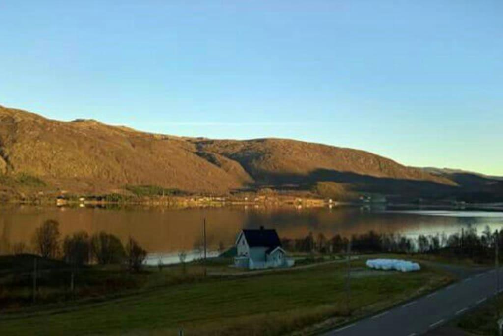 the cabin. beatiful view.
