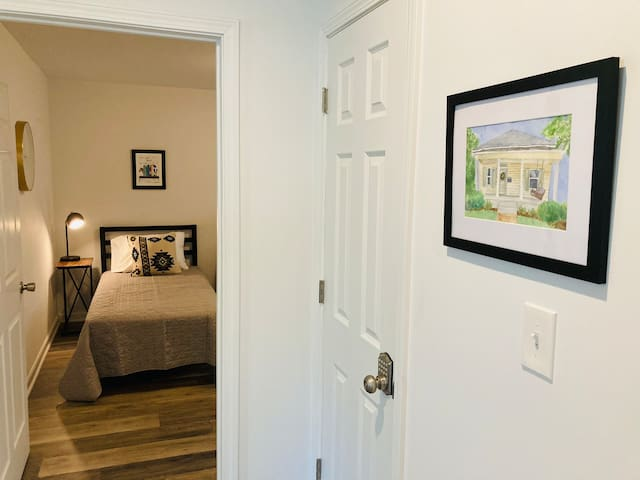 Many thoughtful details throughout home, such as custom local artwork