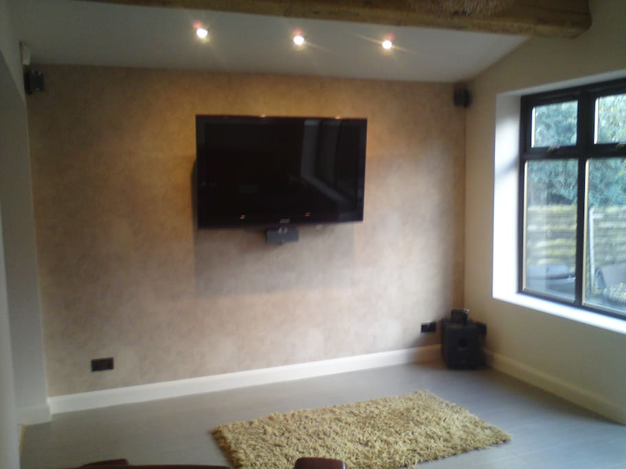 "Rear TV lounge with 52""  wall mounted screen"
