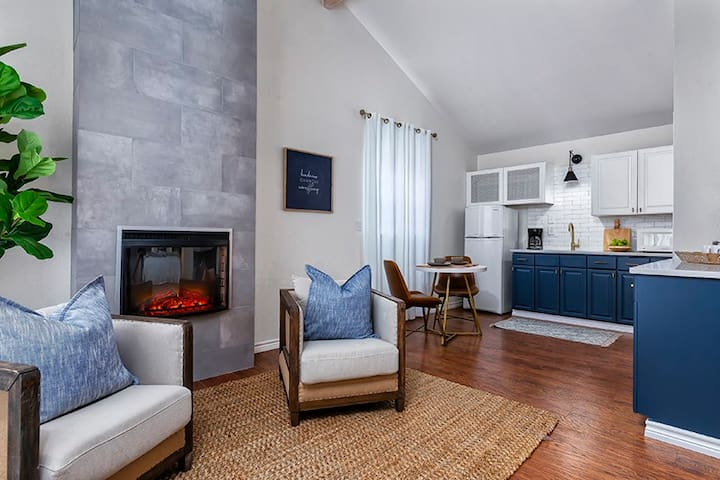 Downtown Retreat Dream Catcher Suite | Walk to Main | Shared Hot Tub and Pool
