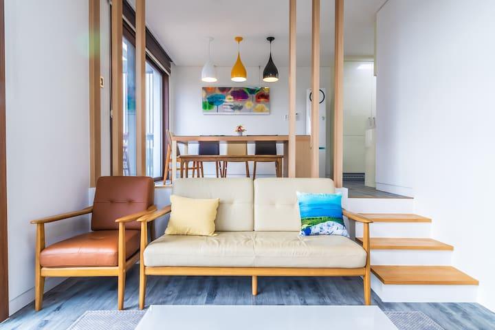 조용한 전원주택형 펜션 알루하우스 34평형 복층 103호