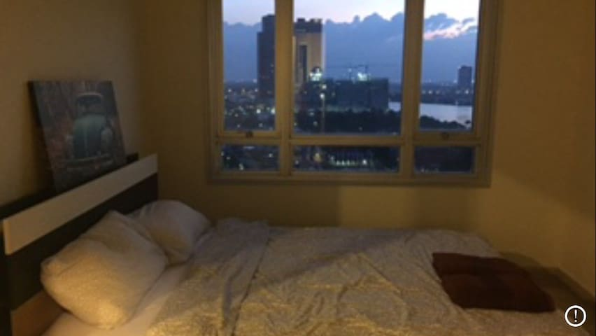 River view from bed room