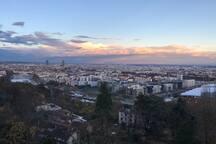 Vue imprenable sur la ville de Lyon