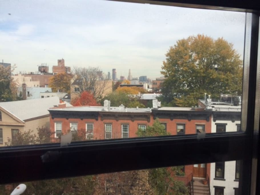 Views of downtown Brooklyn and Park Slope.