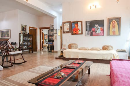 Artistic Open-Concept Traditional Bengali Home