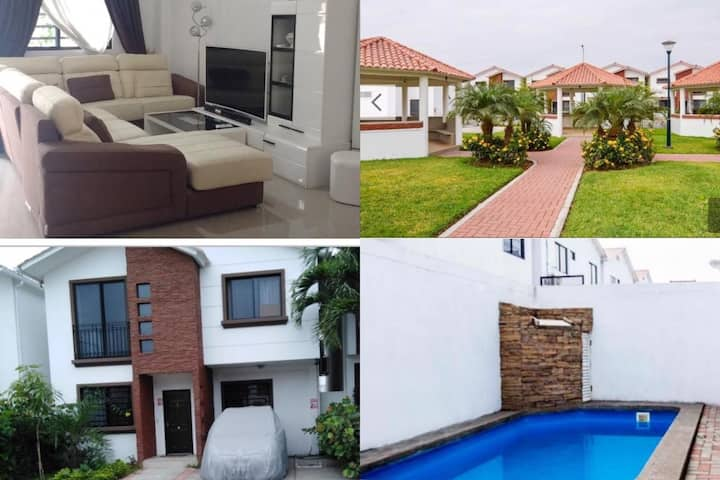 Lujosa villa con piscina privada en Guayaquil