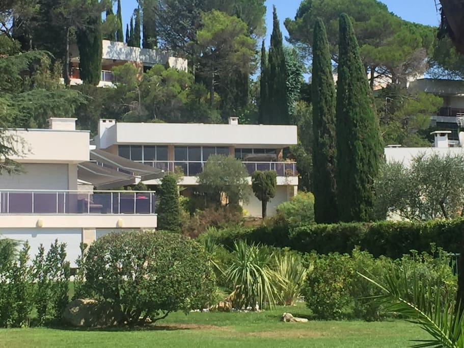 THE VILLA (from swimming pool)