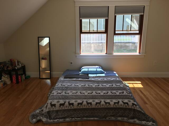Bright room in an amazing location.AC and parking
