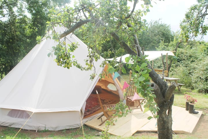 PLUM TREE *GLAMPING* FURNISHED BELL TENT.