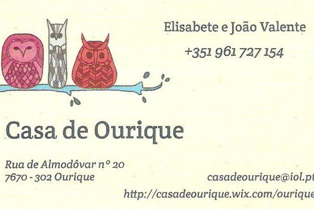 O nosso cartão de visita.