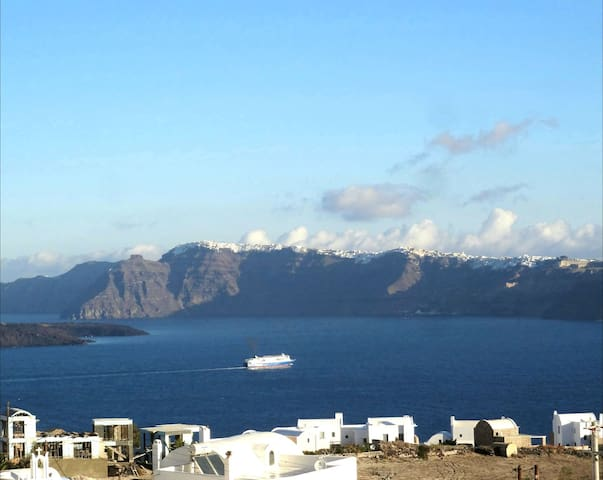 Cycladic house,180° amazing view,up to 5 guests!