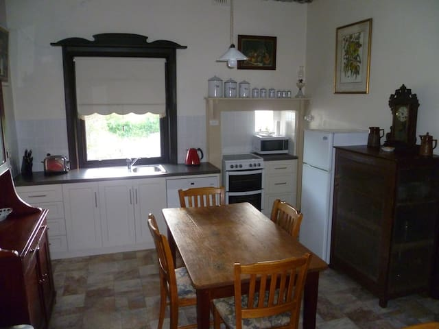 Kitchen with dishwasher, stove/oven and microwave