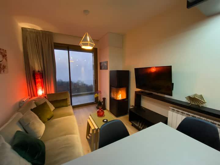 Redrock Duplex Getaway - Fireplace