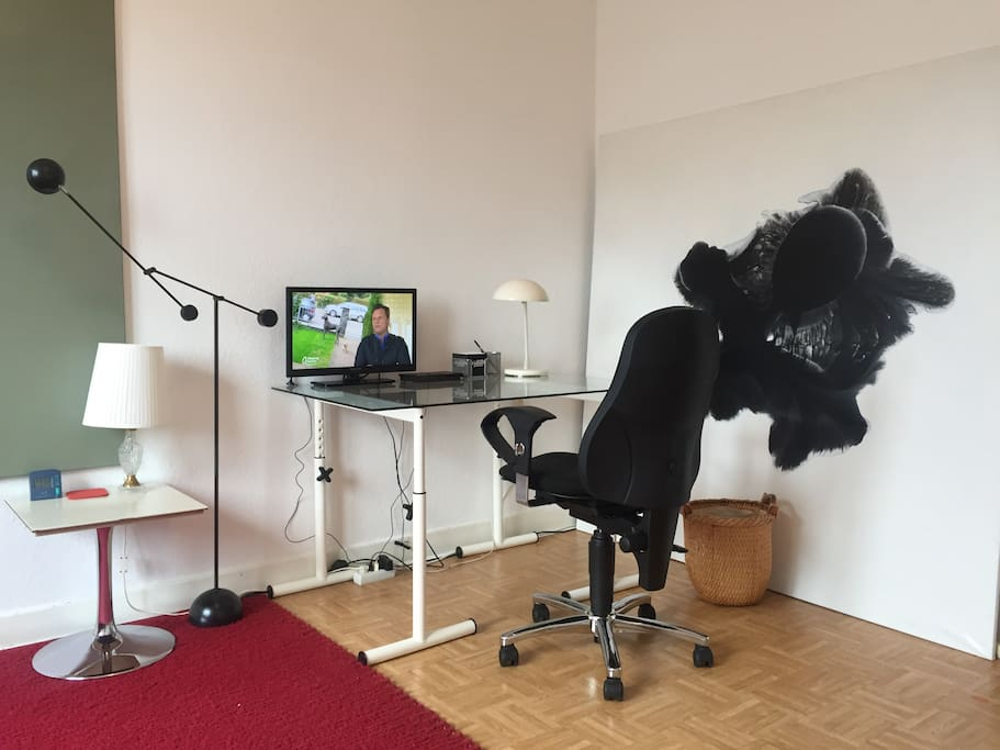 Your working table with TV