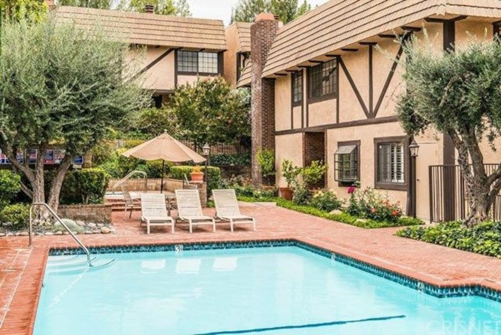 pool outside your townhome window