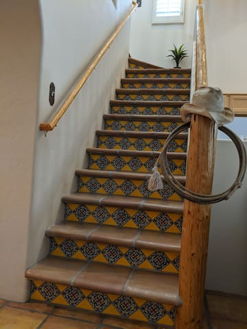 Tiled Stairs to Loft