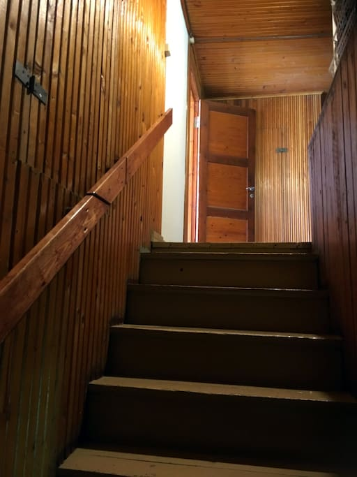 stairs to the upstairs rooms