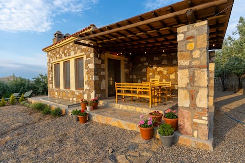 Sunset Stone House with fireplace and turkish bath