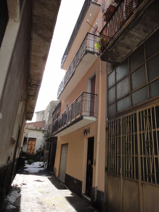 Balconies facing Private Alley