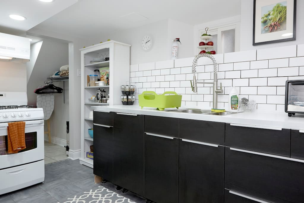 Modern kitchen with everything you need for your home-away-from-home!