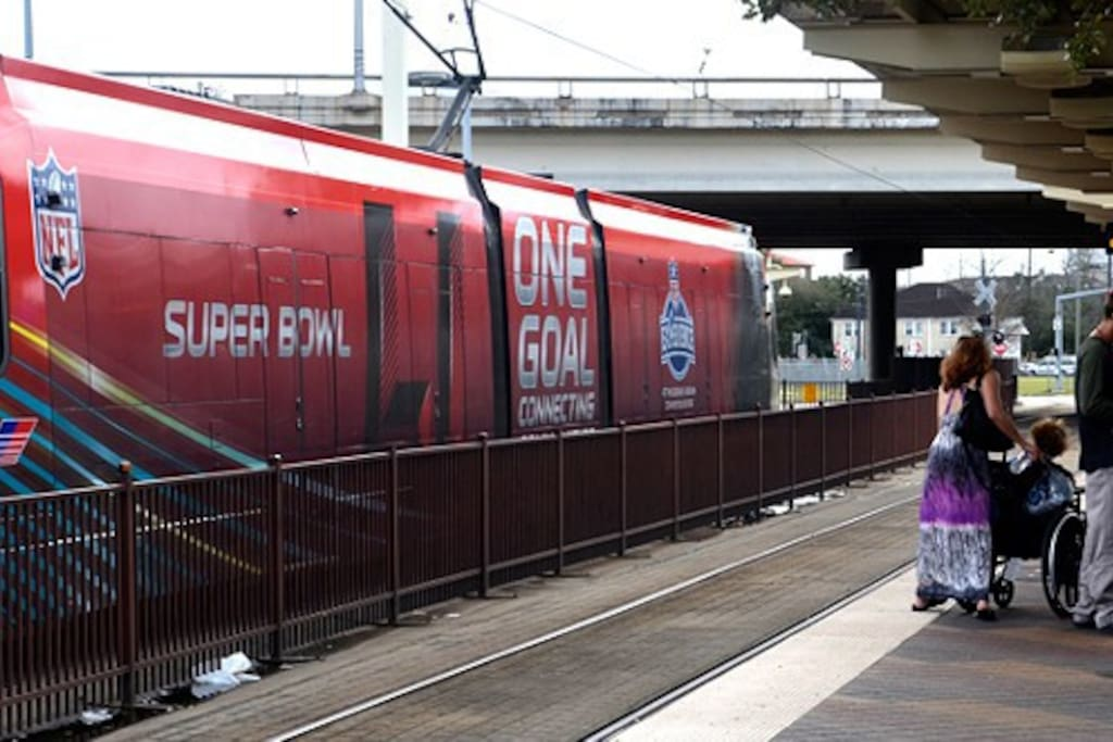 Less than 2 blocks to the Metro Rail! This will get you downtown for all the weekly facilities and all the way to NRG on game day. Don't deal with the disaster that will be parking and traffic in Houston during super bowl week.