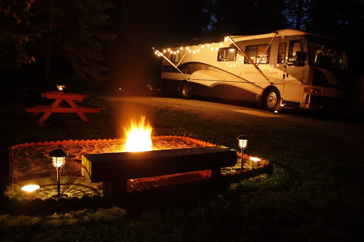 RV site in Sandpoint's pastoral Selle Valley