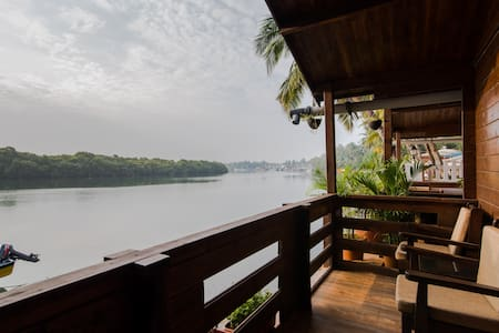 AC River View Cottage at Sal Riviera Mobor Goa