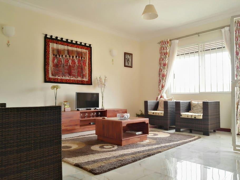 closer look at the prestigious living room.