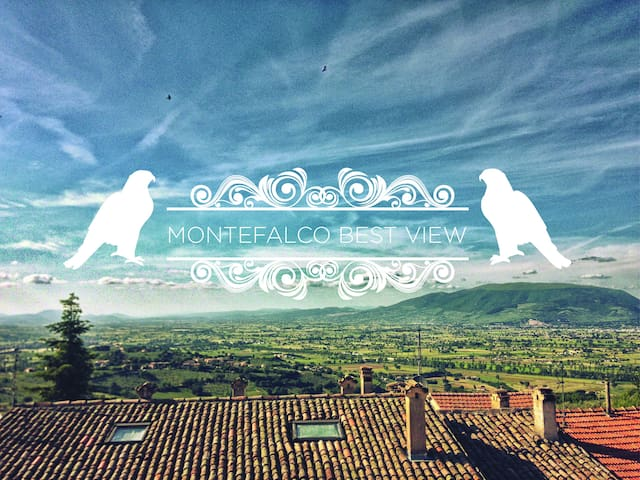 Best view of Umbria! flat in tipical brick house - Montefalco