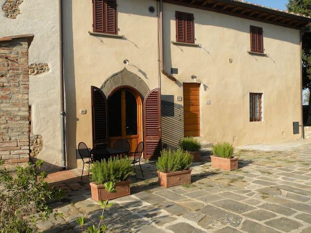 Florentine hillside wine estate. Lodging melo