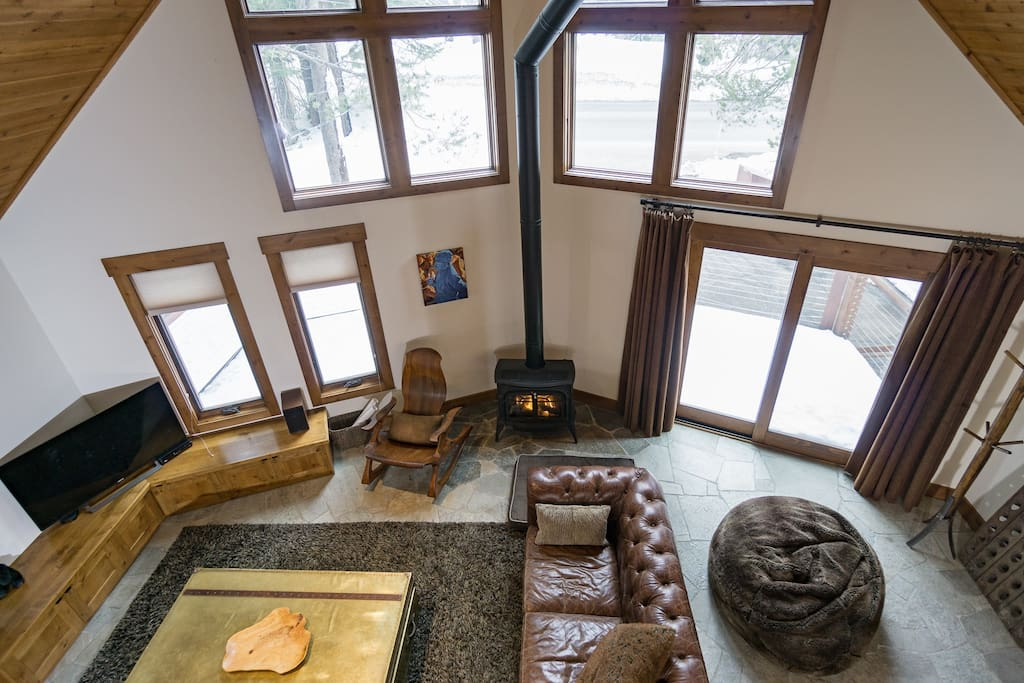 looking down on living room from  2nd floor