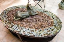 TRAVEL money handmade coffee table