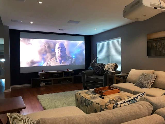 Corporate Living 4K Movie Theater Modern Farmhouse