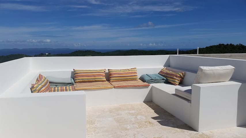 Roof deck on top of the house. Perfect for lounging and stargazing.