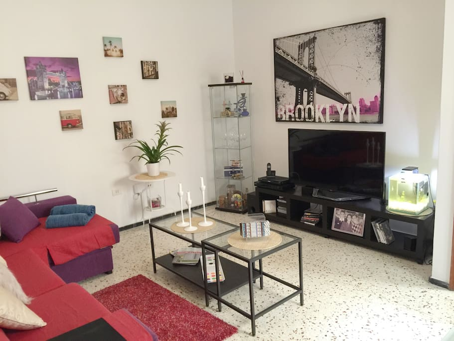 Guests can feel at home, and can wath TV