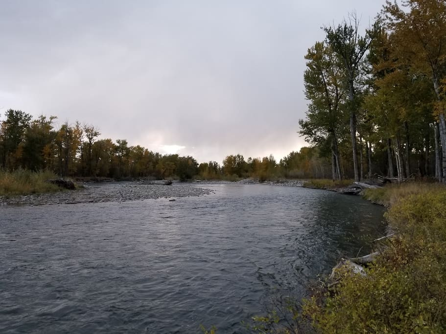 Take the trail to The Gallatin River to enjoy world-class fly fishing or just a scenic view.