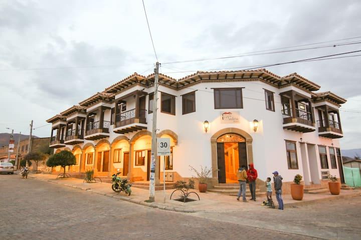 Habitacion doble en Sachica, Plaza Medina