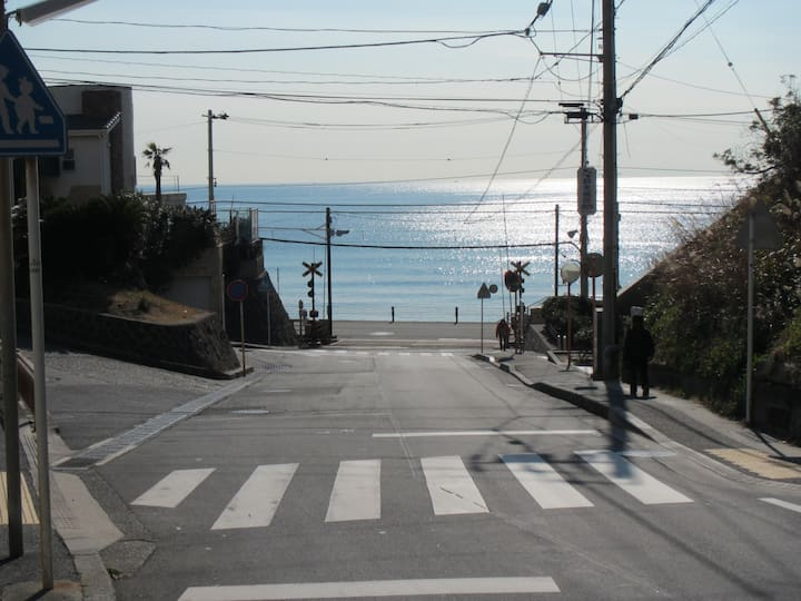 テレワーク・光回線・安心貸別荘・湘南鎌倉で海近生活  Surf town・inn 1   Ⓟ1台完備